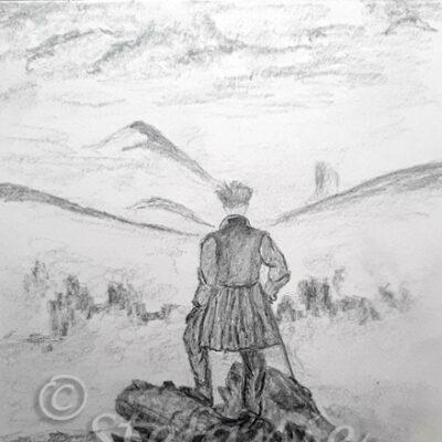 Wanderer über dem Nebelmeer nach C. D. Friedrich