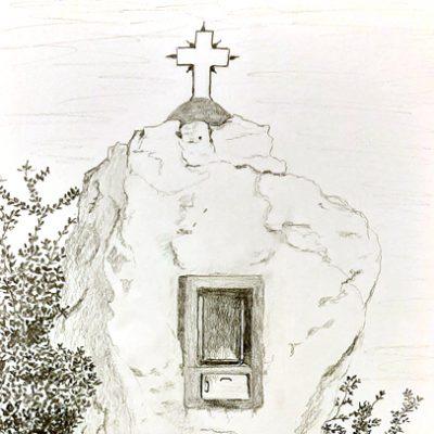 Felsenkapelle in Griechenland